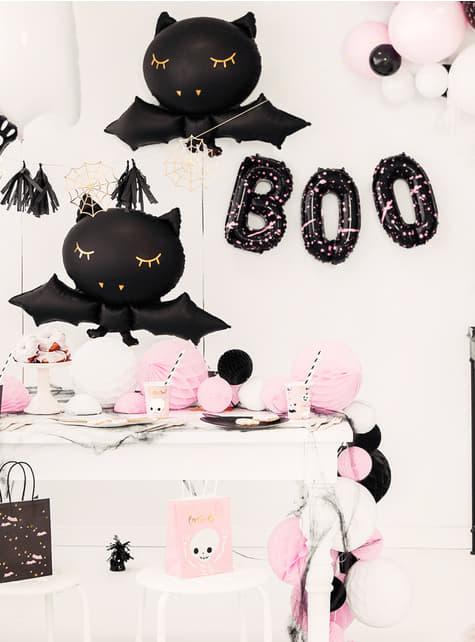 3 balões pretos de Halloween - Boo! - para crianças e adultos