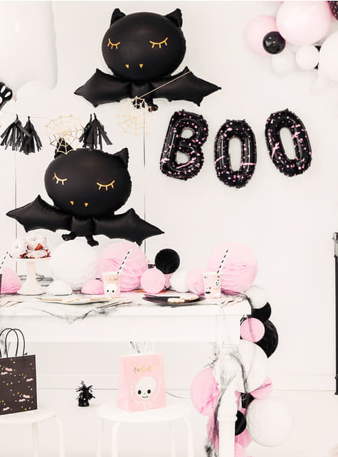 3 Halloween balloons in black - Boo! - for kids and adults