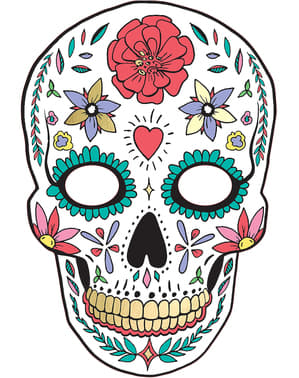 Hvit Catrina Maske - Day of the Dead
