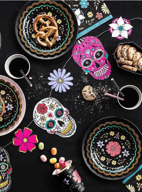 Máscara Caveira Mexicana branca - Día de los muertos - compra