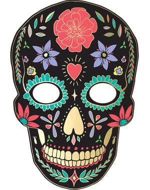 Masque Catrina noir - Día de los muertos