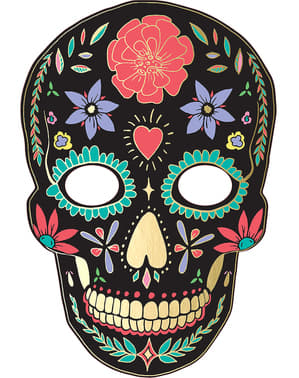 Svart Catrina Mask - Day of the Dead