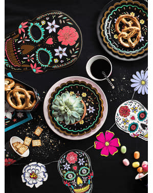 Maschera di teschio messicano Catrina nera - Giorno dei Morti