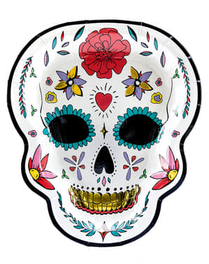 6 Catrina Tallrikar i vitt - Day of the Dead
