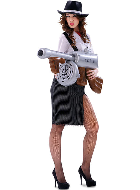 Disfraz de gángster para mujer - mujer