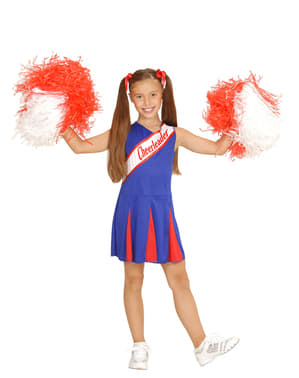 Girls Blue Cheerleader Costume