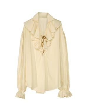 Camisa beige de pirata para mujer