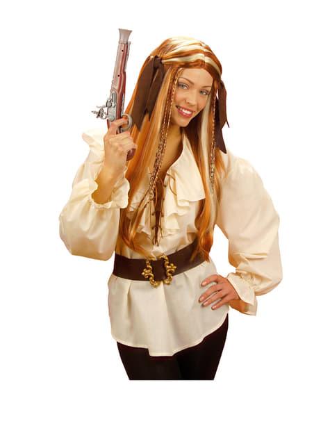 Camisa beige de pirata para mujer - original