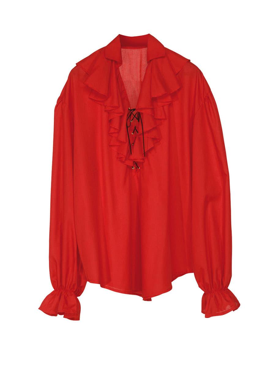 Chemise rouge de pirate femme pour déguisement   Funidelia