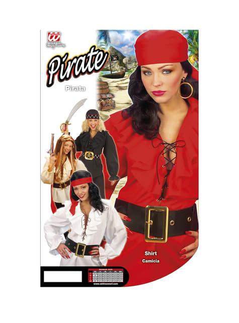 Camisa roja de pirata para mujer - traje