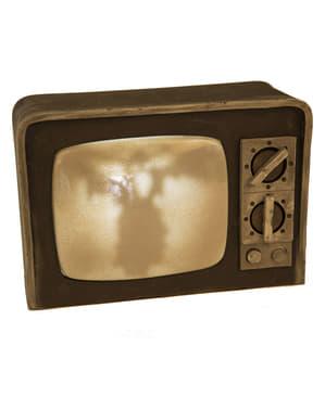 Hjemsøkt TV Rekvisitt med Lys & Lyd (31 cm)