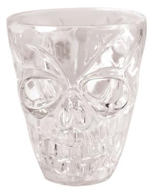 4 copos de shot com esqueleto Halloween