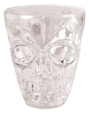 4 sklenice na panáky lebka Halloween