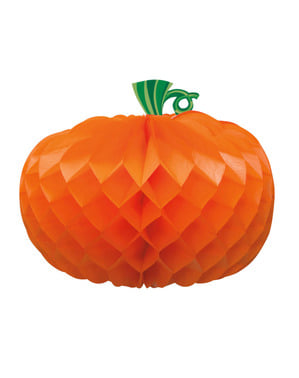 Honeycomb Gresskar i Oransje (27cm) Halloween