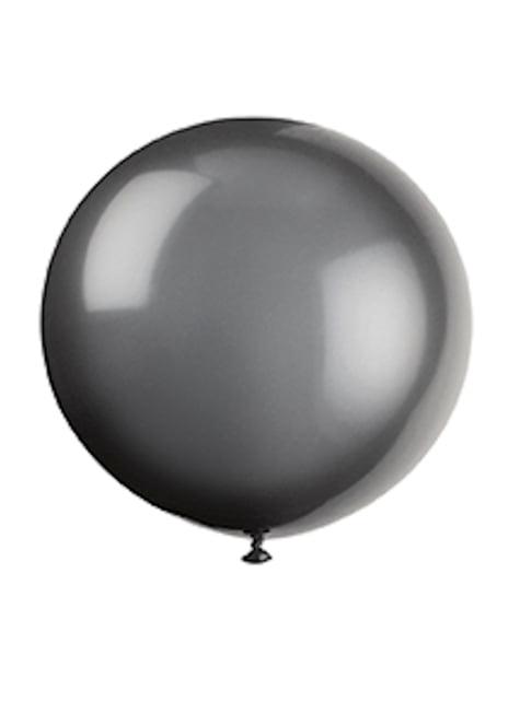 6 balões pretos (91 cm) Halloween