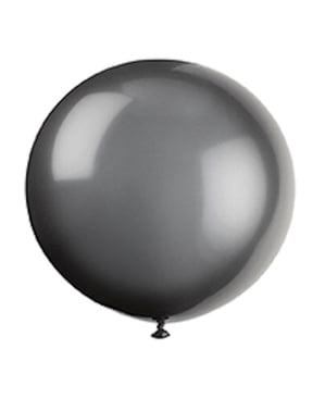6 Luftballons Halloween schwarz (91 cm)