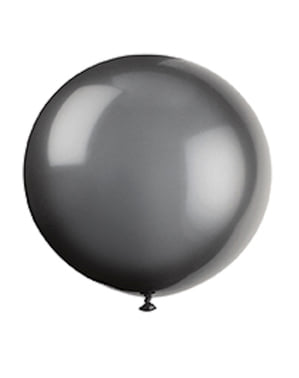 6 повітряних куль в чорний для Хеллоуїна (91 см)