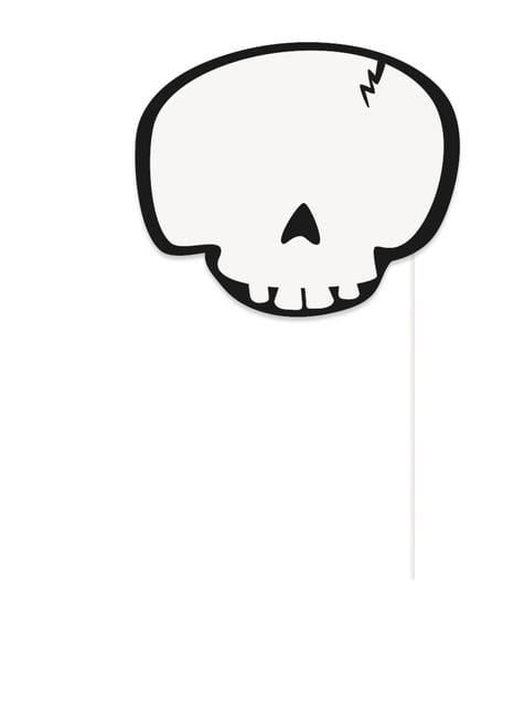 10 Halloween Photo Booth rekvisitter - Trick or Treat - til dine festdekorationer