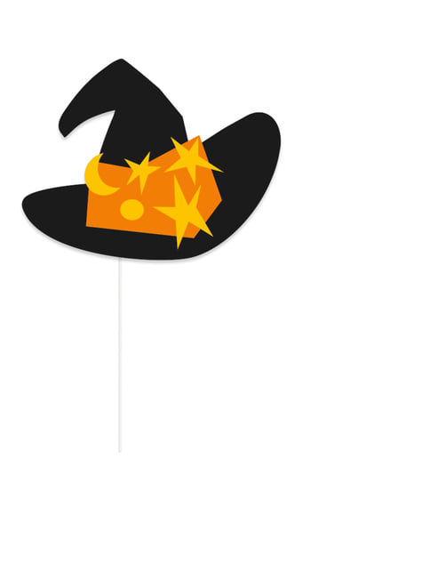 10 Halloween Photo Booth rekvisitter - Trick or Treat - festdekorationer