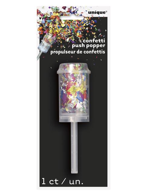 Mini Cañón de confetti multicolor - para tus fiestas