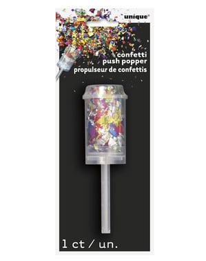 Mini tun de confetti multicolore