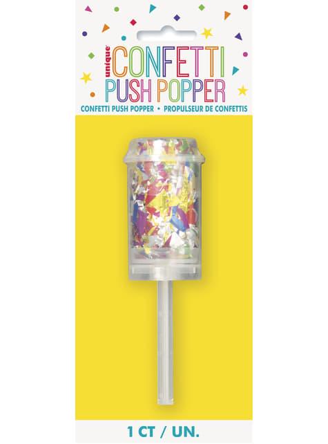 Mini Cañón de confetti multicolor - barato