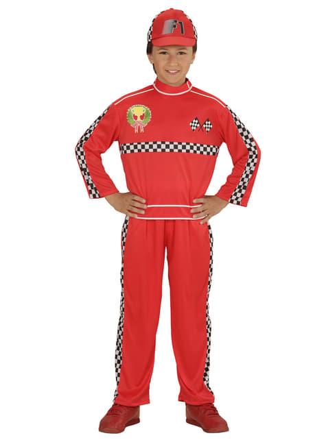 Fato de piloto de corridas para menino
