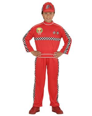 Disfarce de piloto de corridas para criança
