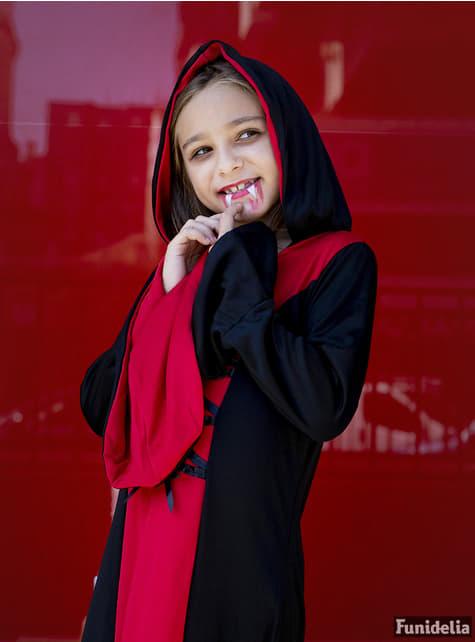 Fato de dama vampiro para menina