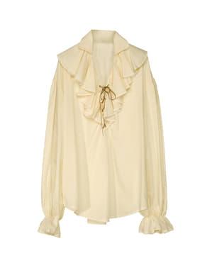 Chemise beige de pirate femme grande taille