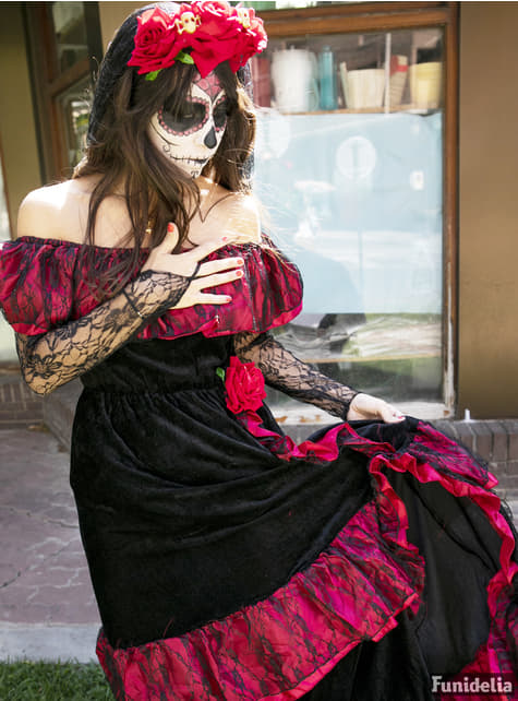 Disfraz de Catrina deluxe para mujer - Carnaval