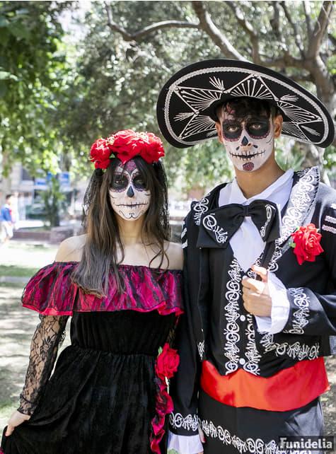 Disfraz de Catrina deluxe para mujer - original