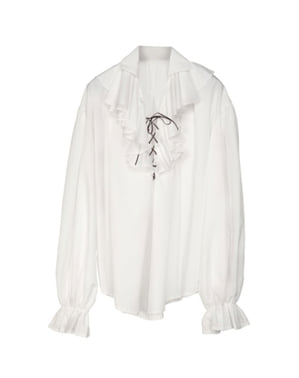 Chemise blanche pirate homme