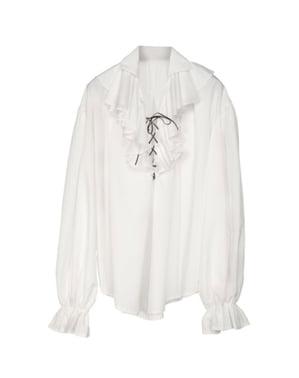 Hvit Piratskjorte til Menn