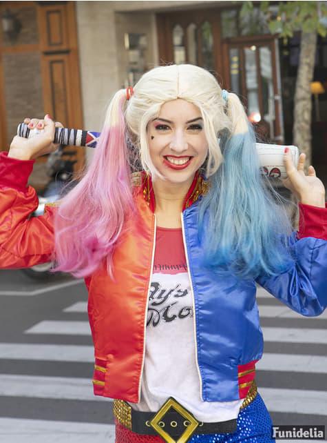 Peruca de Harley Quinn Suicide Squad para mulher