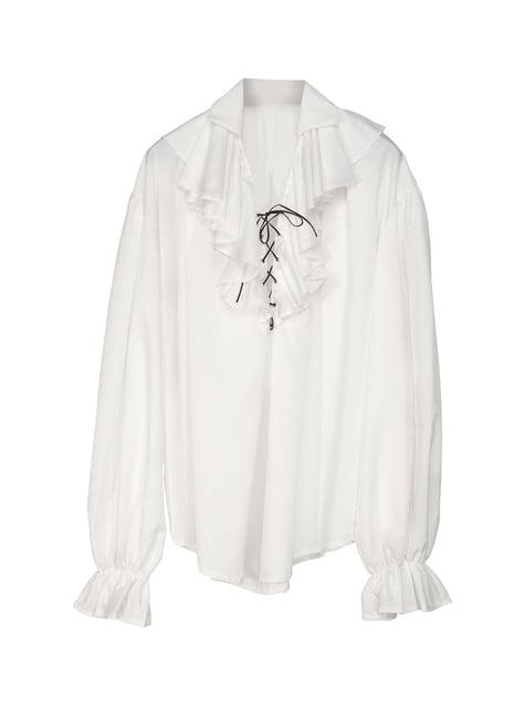 Camisa blanca de pirata para hombre - hombre