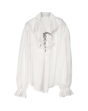 Camisa blanca de pirata para hombre