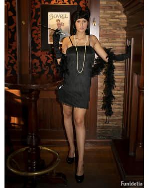 Fato de charleston anos 20 preto para mulher