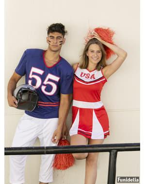 Fato de cheerleader