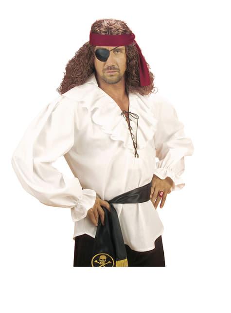 Camisa blanca de pirata para hombre - original