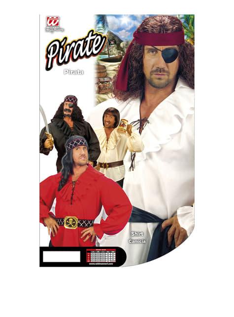 Camisa blanca de pirata para hombre - traje