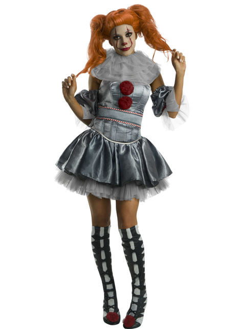Fato de Pennywise deluxe para mulher - IT The Movie