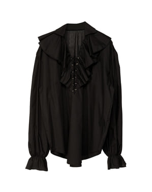Chemise noire pirate homme