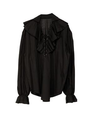 Zwart piratenshirt voor mannen