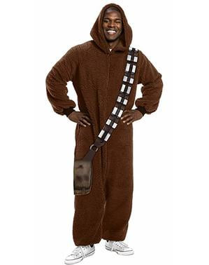 Costume di Chewbacca onesie para adulto - Star Wars