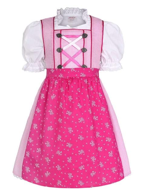 Kinderdirndl Oktoberfest rosa