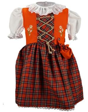 Dirndl Oktoberfest vermelha para menina
