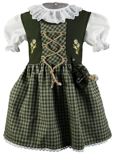Sukienka tyrolska czerwona dla dziewczynki