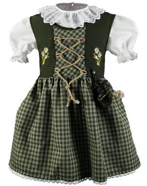 Баварска дриндл носия за Октоберфест в зелено за момичета