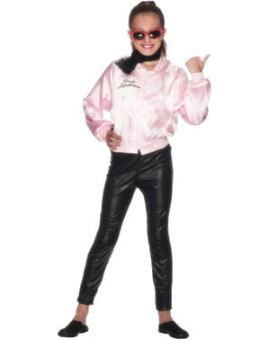 Ružová dámska bunda pre dievčatá - Pomáda kostým